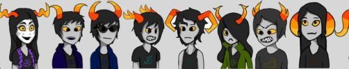 All Homestuck OC's In Game Starts by KaiSorRoxNam