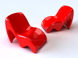 Red Chair Concept by Zortje