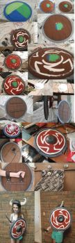 HTTYD- Hiccups Shield Progression Pics by UnicornsInTheDryer