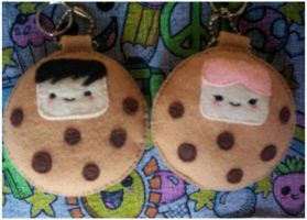 Cookie Couple Keychains by silentCristal