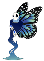 Butterfly Gaster by Gaster-Story