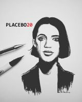 Brian Molko by Lalawu29