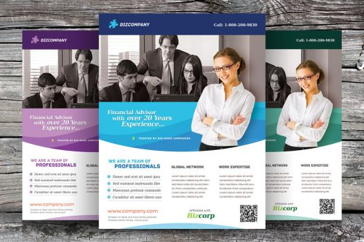 Free Corporate Flyer Template by hugoo13