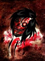 Jeff The Killer as a Zombie by XxLevanaxX
