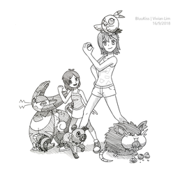 Commission: Sandra and Zoey's Team by BluuKiss