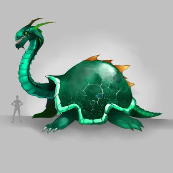 Dragon Turtle concept by DJOK3