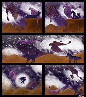 Midnight Run Through the Desert by MookieTheMonster