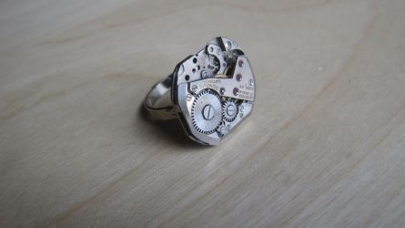 Silver Steampunk Ring by PunkTrunk