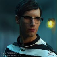 Edward Nygma speedpaint by Z1aR0