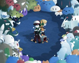 Cave Story Wallpaper Colored by watermeloons