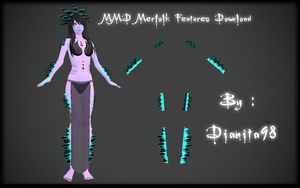 MMD Merfolk Features Download by dianita98