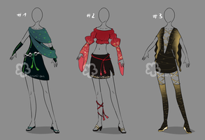 Some Outfit Adopts #27 - open by Nahemii-san