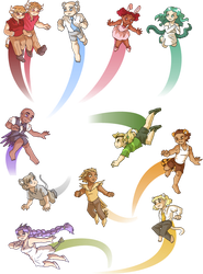 Critters in flight by ErinPtah