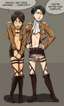 so... about those Attack on Titan costumes... by Go-Devil-Dante