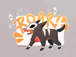 Houndour used ROAR! by spaded-square
