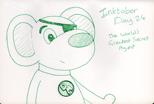Inktober Day 24 -The World's Greatest Secret Agent by WendyW