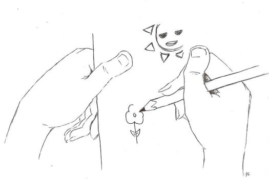 Drawing Hands by cantel