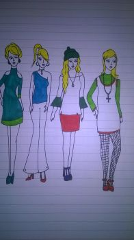 4 blondes by andrea-gould