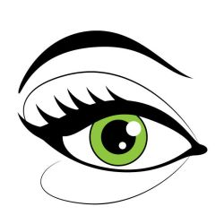 Eye with makeup vector image by Vectorportal