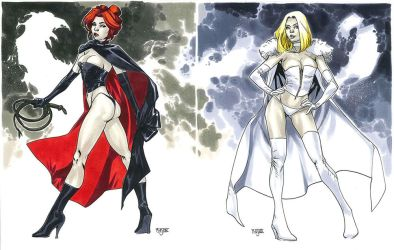 Black Queen + White Queen - NYCC 2012 by MahmudAsrar