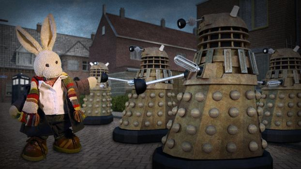 Attack of the Daleks by zackaryrabbit