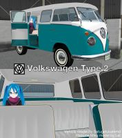 MMD Vehicle DL Series #1: Volkswagen Type 2 by MichaelOKeefe1991