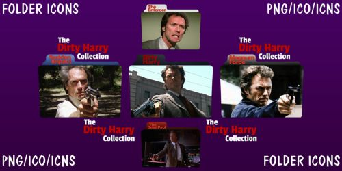 The Dirty Harry Collection Folder Icons pack by ChrisNeville32
