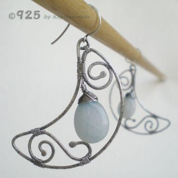 ++SOLD++ Winter Moon Earrings by popnicute