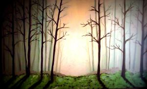 forest in the fog by gold-paroles