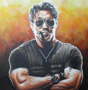Stallone Expendable Painting by JonMckenzie