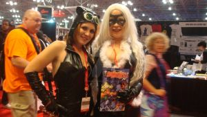 NYCC 2013 photos 1- Catwoman and the Black Cat by ShawnAtkinson