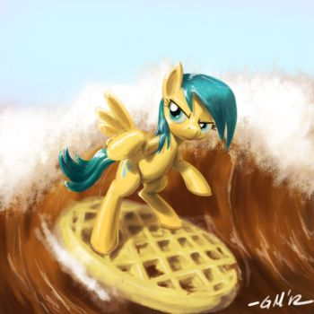 NATG Day 10: A Pony Waffling / Surf's Up! by GiantMosquito