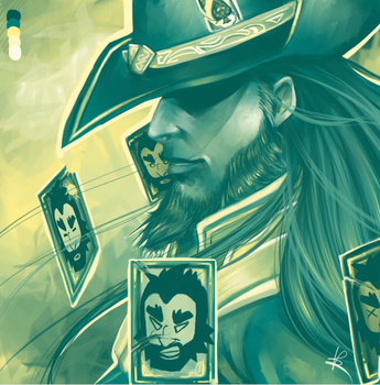 Twisted Fate - It's a lucky day! by HaitiKage