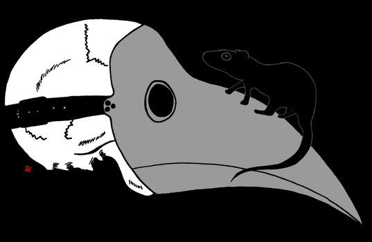 Plague Doctor's Mask with Rat by KevinJDKismet