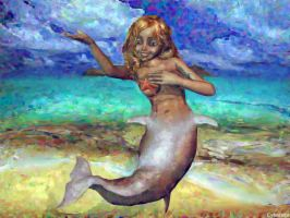 Nude girl to mermaid TF 5 by Cyberalbi