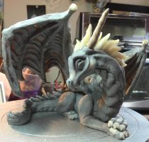 Dragon Sculpture Work in Progress by The-GoblinQueen