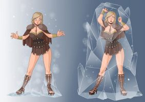 Claire sexy thief ... frozen in ice. Commission. by new-ereon