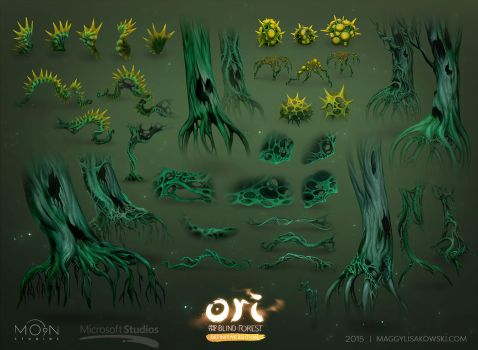Ori and the Blind Forest DE mangrove assets by malisaa