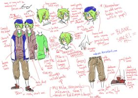 MU human Mike Wazowski reference sheet by makiyan