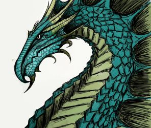 Arched Dragon in color by Fl33tingshadoW