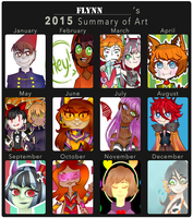 Flynn's Art Summary 2015 by SimplyDefault