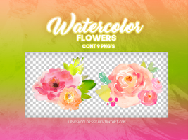 Recursos.Watercolor flower|PNG'S by UpWishColorssx