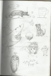 Sketches, Me, Blacky and stuff. by DeivisSoul