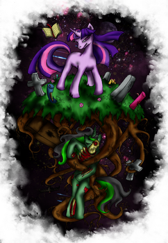 Twilight vs the Zom-Ponies by Paw07