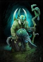 Orc Chaman para Hungry Troll by LANZAestudio
