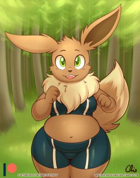 Anthro Eevee by NekoCrispy
