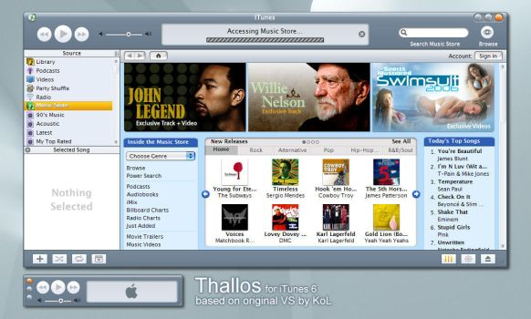 Thallos for iTunes 6 by deelo