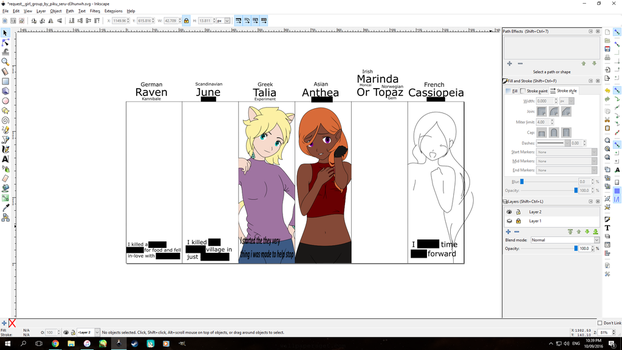 My Original Characters WIP by Mrs89fluffy