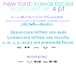 Kawaii Faces Font by zara-leventhal
