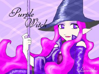 purple witch by Lavendra